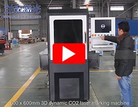 Dynamic RF Laser Marking machine for cutting work