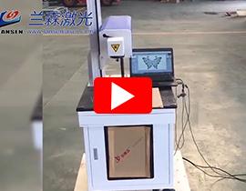 Desktop co2 laser marking machine mark on MDF, leather