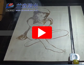 Plywood RF Laser Marking with dynamic galvo scanner