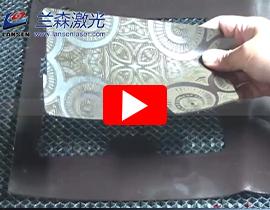 Dynamic RF Laser Marking machine engraving cutting leather