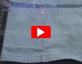 RF Laser Marking machine with dynamic galvo scanner mark on cloth