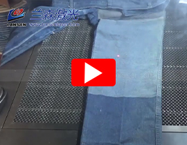 Cloth marking with galvo scanner RF laser marking machine