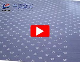 Large format sample marking with RF Laser Marking machine