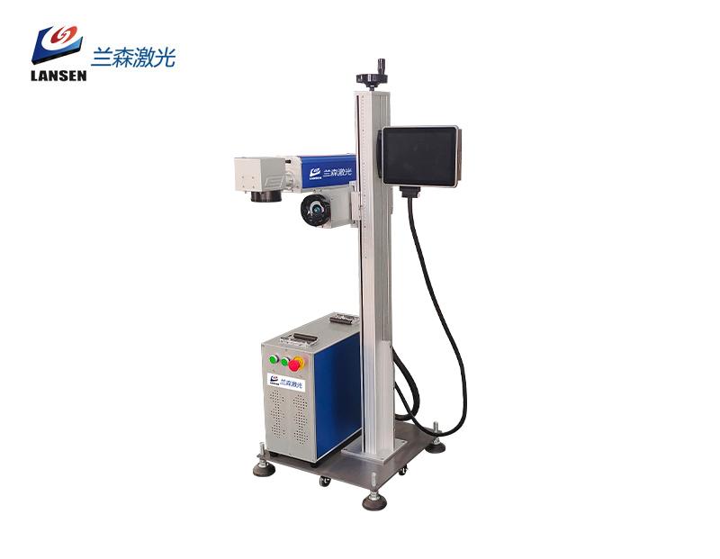Flying production line Fiber laser marking machine for batch production