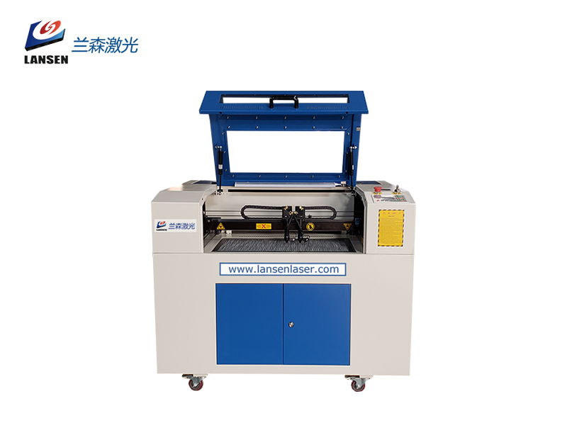 LN4060 CO2 Laser and Fiber Laser in One  Double headed Laser Engraving Cutting and Marking Machine