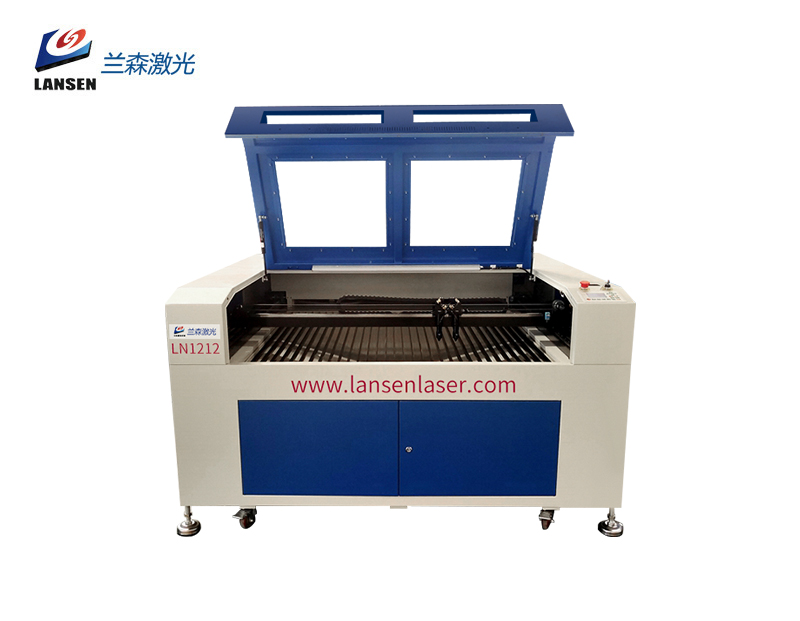 LN1212 CO2 Laser and Fiber Laser in One Double headed Laser Engraving Cutting and Marking Machine