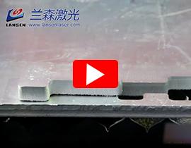 Fiber Laser Cutting machine cutting 16mm aluminum plate